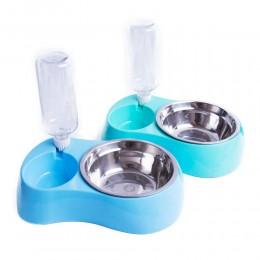 Podwójna miska dla psa + poidełko butelka dozownik wody 500 ml