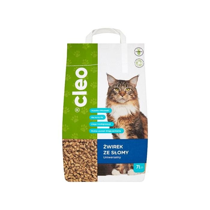 Cleo żwirek dla kota ze słomy 100% naturalny i ekologiczny 7l
