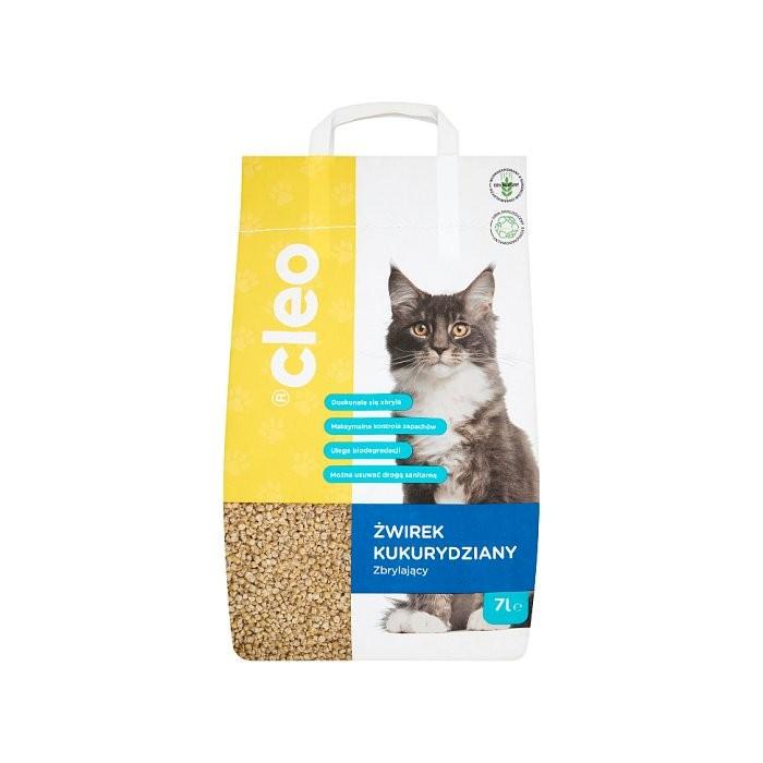 Cleo eko żwirek dla kota kukurydziany zbrylający 7 l