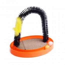 4in1 Purrfect Arch drapak czyścik szczotka zabawka dla kota