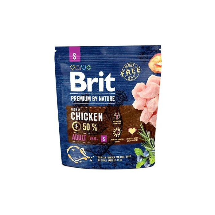 Karma dla psa Brit Premium By Nature Adult Small Chiken 1 kg