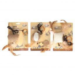 Ekologiczna zabawka dla kota na gumce z dzwoneczkiem