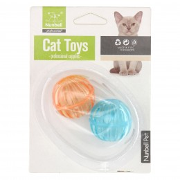Piłeczki dla kota z dzwonkiem mix kolorów
