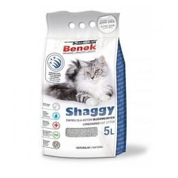 BENEK  shaggy żwirek dla kotów długowłosych naturalny 5L