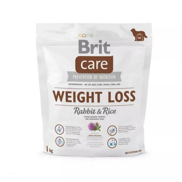 Sucha karma dla psów BRIT Care Weight Loss Rabbit & Rice 1 kg