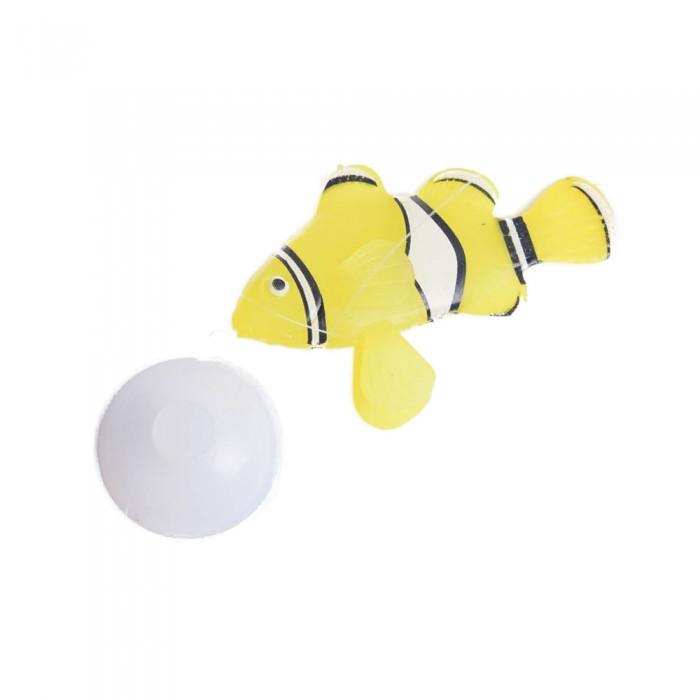 Żółta świecąca sztuczna rybka silikonowa NEMO ozdoba do akwarium