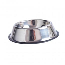 Miska metalowa dla psa na gumie antypoślizgowej 500 ml