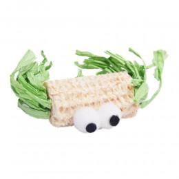 EKO zabawka dla kota STWOREK z trawy i kukurydzy