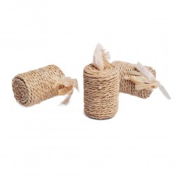 Eko zabawka dla kota WAŁEK z trawy i ratanu