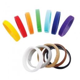 Kolorowe opaski znaczniki obróżki dla szczeniaków na rzep 33 cm