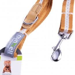 Odblaskowa smycz dla średniego psa 120 cm z taśmy kolory