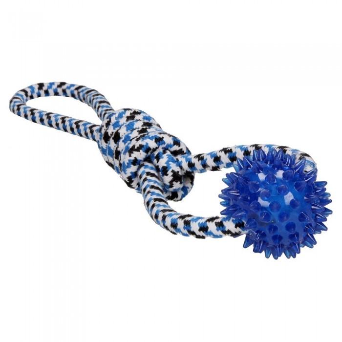 Zabawka sznurowa dla psa ósemka z piłką