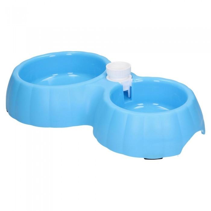 Podwójna miska z dozownikiem dla psa kota na wodę