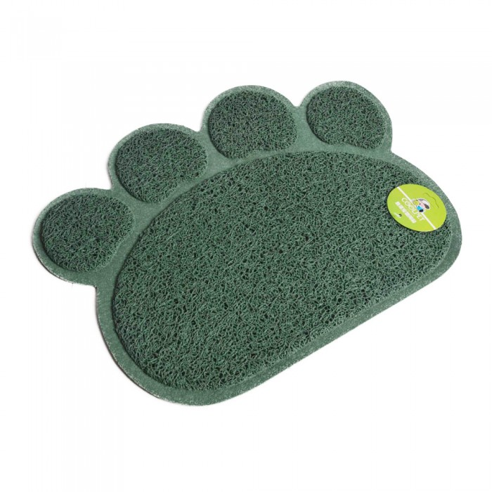 zielona mata pod miski podkładka pod kuwetę dla kota psa