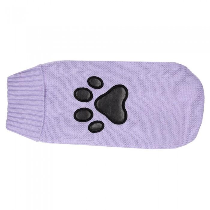 Sweterek golf dla psa z czarną łapką
