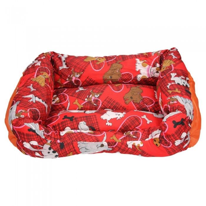 Czerwona kanapa legowisko dla psa w pieski XS