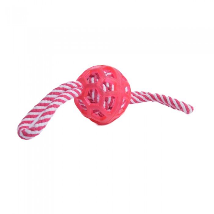 Piłka duża zabawka sznurowa gryzak szarpak dla psów do aportowania