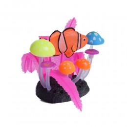 Fluorescencyjna sztuczna dekoracja do akwarium rośliny rybka Nemo