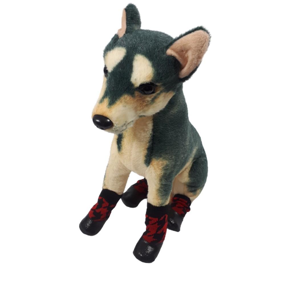 gumowe buty dla psa czerwone roz. 1